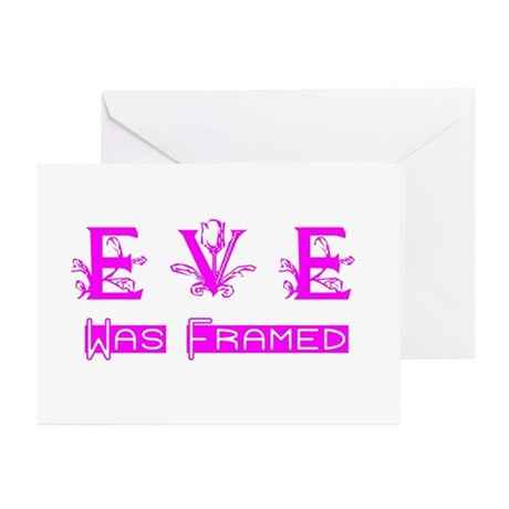 Eve was Framed Greeting Cards (Pk of 10)