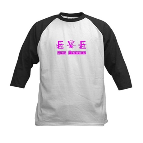 Eve was Framed Kids Baseball Jersey