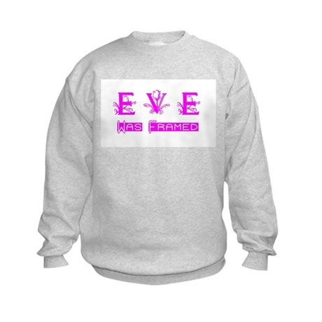 Eve was Framed Kids Sweatshirt