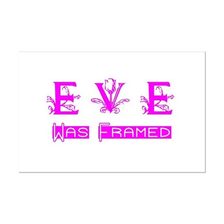 Eve was Framed Mini Poster Print