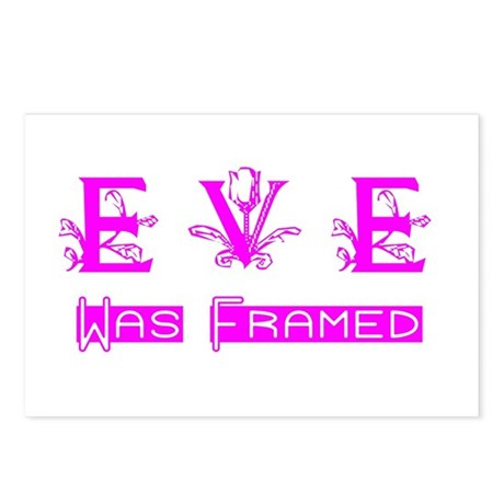 Eve was Framed Postcards (Package of 8)