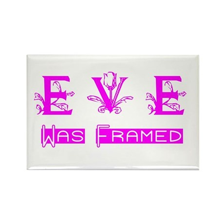 Eve was Framed Rectangle Magnet (100 pack)