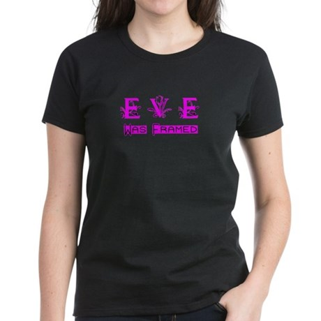 Eve was Framed Women's Dark T-Shirt