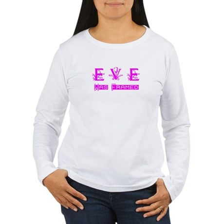 Eve was Framed Women's Long Sleeve T-Shirt