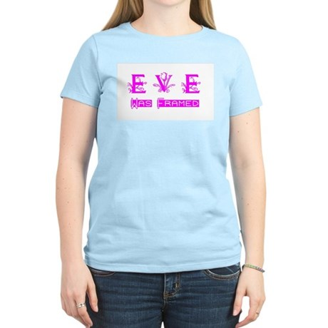 Eve was Framed Women's Pink T-Shirt