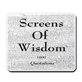 Screens Of Wisdom - Mousepad