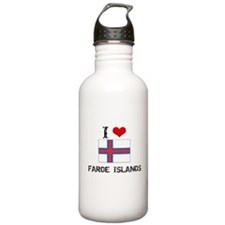 I HEART FAROE ISLANDS FLAG Water Bottle