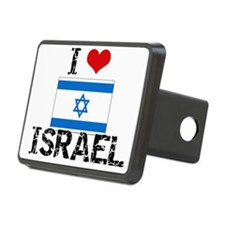 I HEART ISRAEL FLAG Hitch Cover