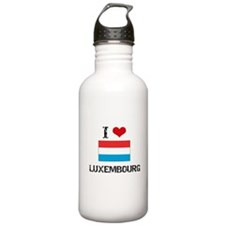 I HEART LUXEMBOURG FLAG Water Bottle