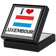 I HEART LUXEMBOURG FLAG Keepsake Box