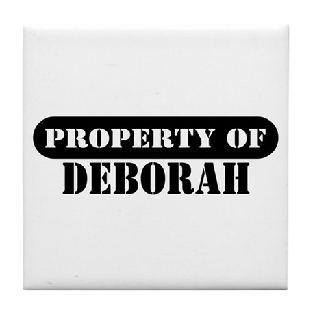 Property of Deborah Tile Coaster