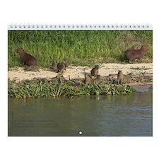 Capyvaras (en: Capybaras) Wall Calendar