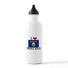 I HEART MONTANA FLAG Water Bottle