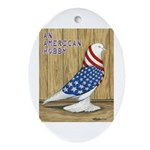 Patriotic West Oval Ornament