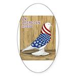 Patriotic West Oval Sticker