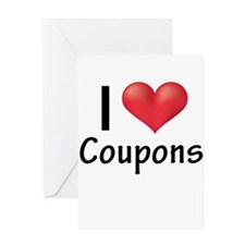 I Heart Coupons Greeting Card