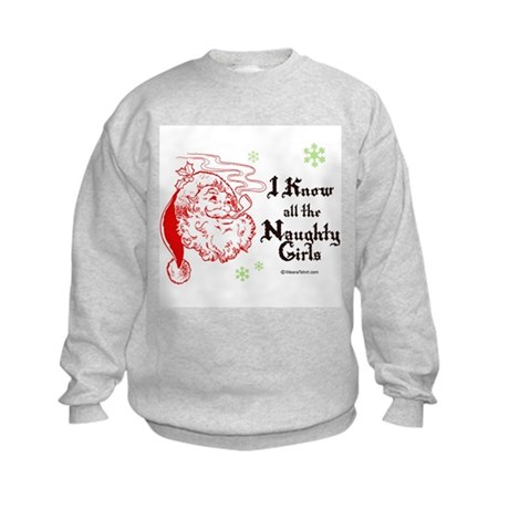 I know all the naughty girls - Kids Sweatshirt