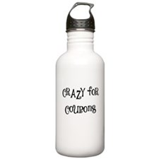 CRAZY FOR COUPONS Water Bottle