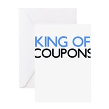 KING OF COUPONS Greeting Card