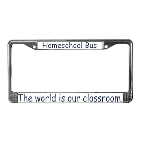 Homeschool Bus License Plate Frame