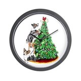 Corgi Christmas Wall Clock