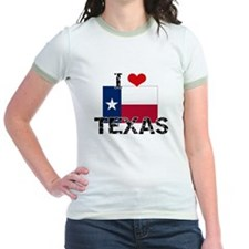 I HEART TEXAS FLAG T-Shirt