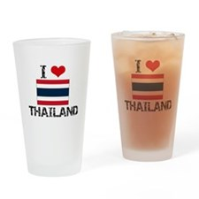 I HEART THAILAND FLAG Drinking Glass