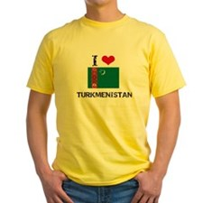 I HEART TURKMENISTAN FLAG T-Shirt