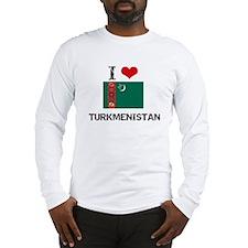 I HEART TURKMENISTAN FLAG Long Sleeve T-Shirt