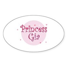 Gia Oval Decal