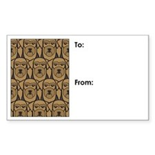 Airedale Terriers Gift Tag Decal