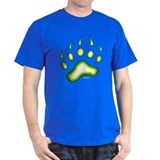 Green Glow Bear Paw T-Shirt