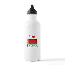 I HEART BELARUS FLAG Water Bottle