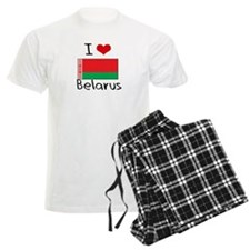 I HEART BELARUS FLAG Pajamas