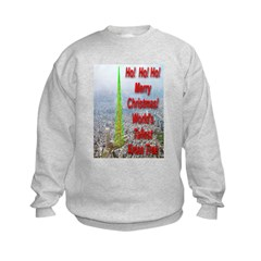 World's Tallest Christmas Tre Kids Sweatshirt