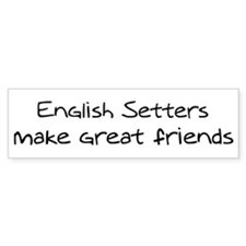 English Setters make friends Bumper Bumper Sticker