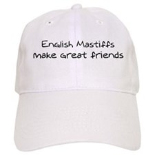 English Mastiffs make friends Baseball Cap