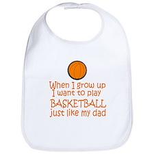 Basketball...just like DAD Bib