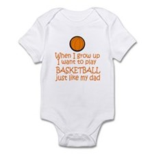 Basketball...just like DAD Infant Bodysuit