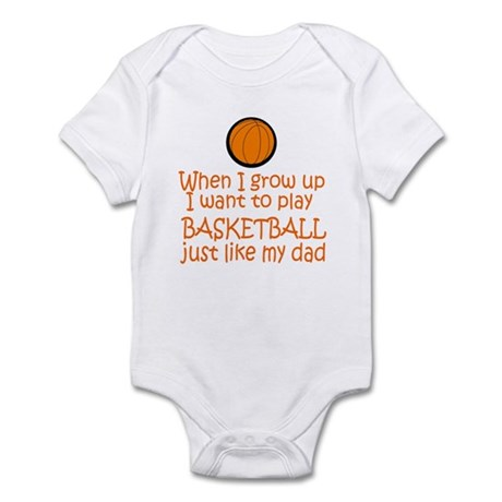 Basketball...just like DAD Infant Bodysuit