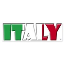 Word Art Flag Italy Bumper Bumper Sticker