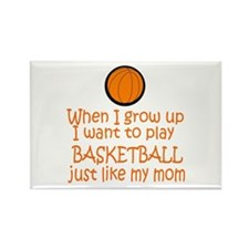 Basketball...just like MOM Rectangle Magnet