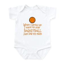Basketball...just like MOM Infant Bodysuit