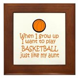 Basketball...just like AUNT Framed Tile