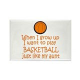 Basketball...just like AUNT Rectangle Magnet