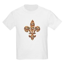Multi-color Rhinestone Fleur Kids T-Shirt
