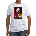 MERRY CHRISTMAS BOSTON TERRIER LOOK Fitted T-Shirt