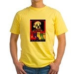 MERRY CHRISTMAS BOSTON TERRIER LOOK Yellow T-Shirt