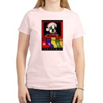 MERRY CHRISTMAS BOSTON TERRIER LOOK Women's Pink T