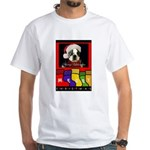 MERRY CHRISTMAS BOSTON TERRIER LOOK White T-Shirt